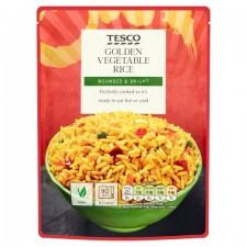 Tesco Microwave Golden Vegetable Rice 250G