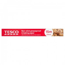 Tesco Non Sticking Greaseproof and Baking Paper 370mm x 15m