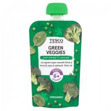 Tesco Organic Green Veggies 6 months 100g