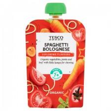 Tesco Organic Spaghetti Bolognese 7 months 130g
