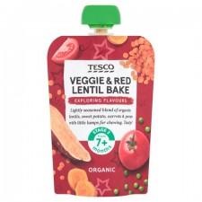 Tesco Organic Veggie and Red Lentil Bake 7 months 130g