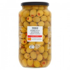 Tesco Pimiento Stuffed Green Olives 920g