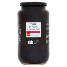 Tesco Pitted Black Olives 920g