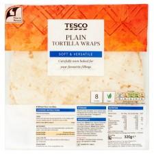 Tesco Plain Tortillas 8 Pack