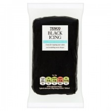Tesco Ready To Roll Coloured Icing Black 250g