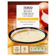 Tesco Roast Chicken Soup In A Mug 5 Pack 130g