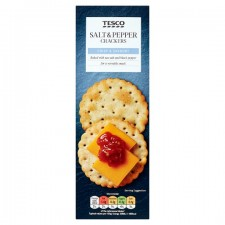 Tesco Salt And Pepper Crackers 185g