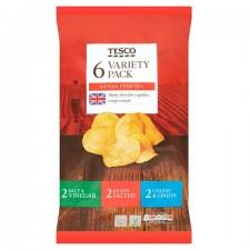Tesco Variety Crisps 6 Pack