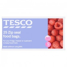 Tesco Zip Seal Food And Freezer Bags Small 25s