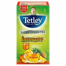 Tetley Immune Green Tropical 20 Tea Bags 40G