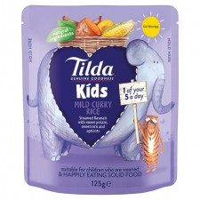 Tilda Kids Mild And Sweet Curry Rice 125g