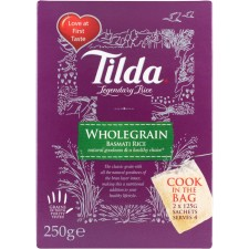 Tilda Wholegrain Basmati Cook in the Bag 2x125g