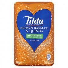 Tilda Wholegrain  Brown Basmati And Quinoa 500g