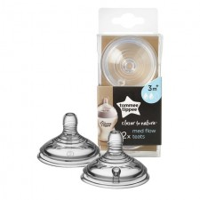 Tommee Tippee Closer To Nature Medium Flow Teats 2 per pack