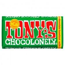 Tonys Chocolonely Milk Chocolate Hazelnut 180g