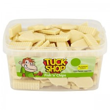 Tuck Shop White Chocolate Fish n Chips 120 Pack