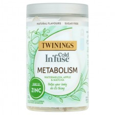Twinings Cold Infuse Metabolism Watermelon Apple and Matcha 12 Infusers