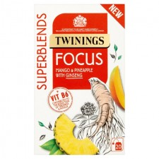 Twinings Superblends Focus Mango Pineapple and Ginseng Tea 20 Tea Bags