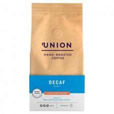 Union Coffee Dark Roast Decaf Cafetiere Grind Blend 200g