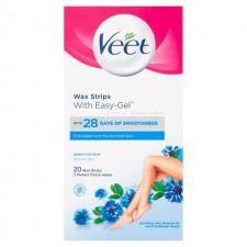 Veet Wax Strips Sensitive Skin For Body 20 per pack