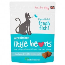 Vets Kitchen Little Hearts Finest Salmon and Trout Cat Treats 60g