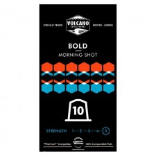 Volcano Coffee Works Bold Morning Shot Nespresso Compatible Eco Pods 10 per pack