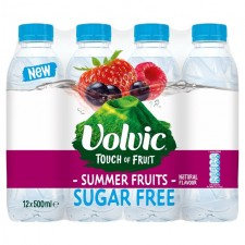 Volvic Touch Of Fruit Sugar Free Summer Fruits 12 x 500ml