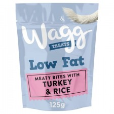Wagg Low Fat Treats with Turkey And Rice 125g