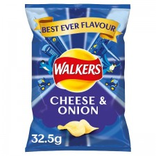 Walkers Cheese and Onion Crisps 32.5g