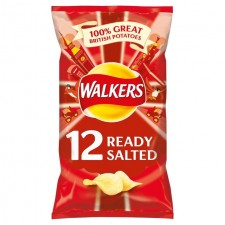 Walkers Ready Salted Crisps 12 Pack