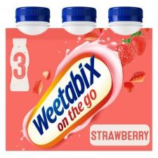 Weetabix On The Go Strawberry Drinks 3 x 250ml