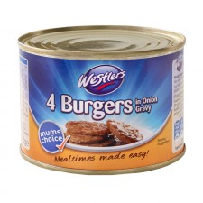 Westlers 4 Burgers In Onion Gravy Tin