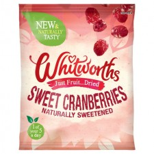 Whitworths Sweet Cranberries Snack Pack 30g