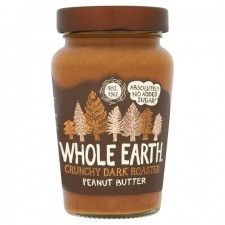 Whole Earth Dark Roasted Crunchy Peanut Butter 340g