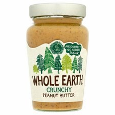 Whole Earth No Added Sugar Crunchy Peanut Butter 454g