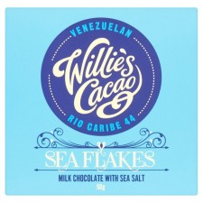 Willies Cacao Milk Chocolate with Sea Salt Flakes 50g