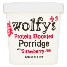 Wolfys Protein Boosted Porridge with Strawberry Jam 91g