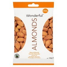 Wonderful Natural Almonds 115g