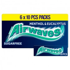 Wrigleys Airwaves Menthol And Eucalyptus 6 Pack