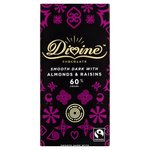 Divine 60% Dark Chocolate with Almonds and Raisins 90g