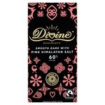 Divine 60% Dark Chocolate with Pink Himalayan Salt 90g