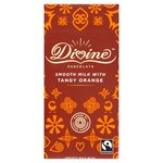 Divine Milk Chocolate with Tangy Orange Bar 90g