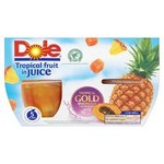 Dole Tropical Gold Tropical Fruit in Juice 4 x 113g