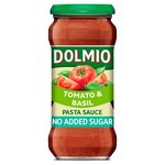 Dolmio Pasta Sauce Tomato and Basil No Added Sugar 350g
