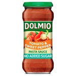 Dolmio Pasta Sauce Tomato and Sweet Pepper No Added Sugar 350g
