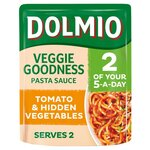 Dolmio Veggie Goodness Pasta Sauce Smooth Tomato and Hidden Veg 340g