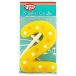 Dr Oetker Spotty Candle Number 2