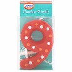 Dr Oetker Spotty Candle Number 9
