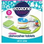 Ecozone Classic All In One Dishwasher Tablets 25 Pack