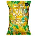 Emily Veg Crisps Sweet Potato Sticks Salt and Chardonnay Vinegar 35g